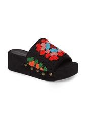 Jeffrey Campbell Nonna Crocheted Platform Slide Sandal (Women)