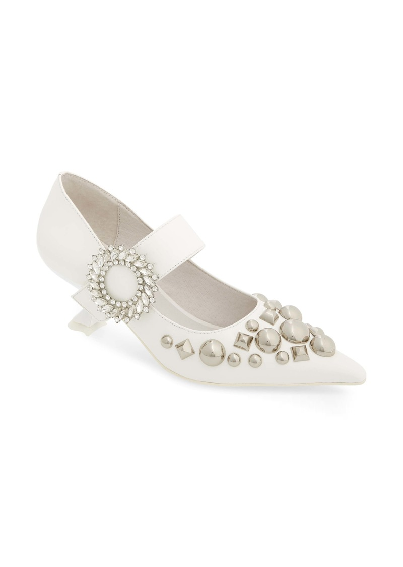 Jeffrey Campbell Otelia Crystal Embellished Pump (Women)