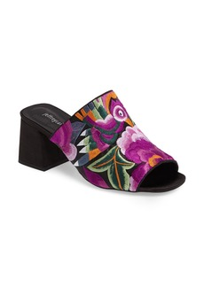 Jeffrey Campbell Perpetua Embroidered Open-Toe Mule (Women)