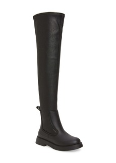 Jeffrey Campbell Rainfall Waterproof Over the Knee Rain Boot (Women) (Wide Calf)