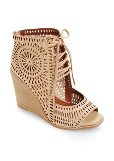 Jeffrey Campbell Rayos Perforated Wedge Sandal (Women)