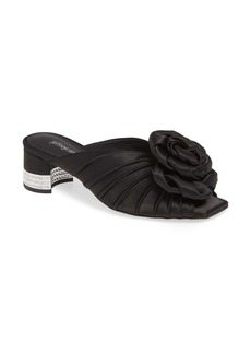 Jeffrey Campbell Rosette Crystal Embellished Slide Sandal (Women)