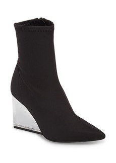 Jeffrey Campbell Siren Clear Wedge Sock Bootie (Women)