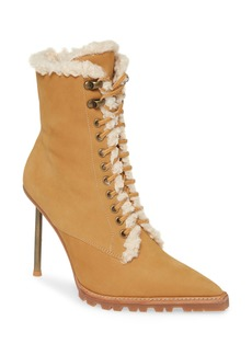 Jeffrey Campbell Truckstop Faux Fur Lace-Up Boot (Women)