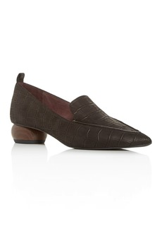 Jeffrey Campbell Women's Embossed Pointed Apron-Toe Loafers