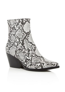 Jeffrey Campbell Women's Snake-Embossed Kelam Pointed-Toe Booties