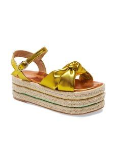 Jeffrey Campbell Xose Metallic Espadrille Platform Sandal (Women)