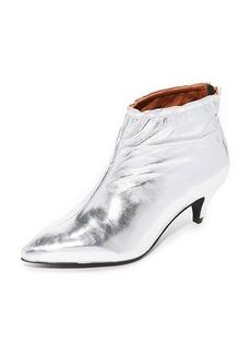Jeffrey Campbell Zosia Low Heel Metallic Booties