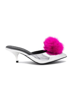 Jeffrey Campbell Jena Detachable Fox Fur Pom Heel