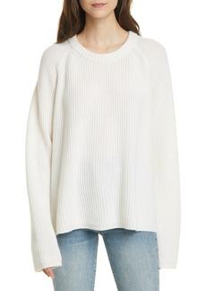 Jenni Kayne Cashmere Fisherman Sweater (Plus Size)