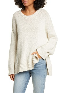 Jenni Kayne Cotton & Linen Crewneck Boyfriend Sweater