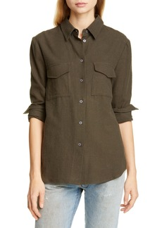 Jenni Kayne Cotton Flannel Work Shirt