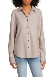 Jenni Kayne Double Pocket Cotton Button-Up Shirt