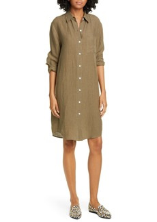 Jenni Kayne Long Sleeve Linen Shirtdress