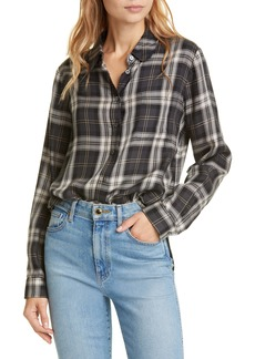 Jenni Kayne Plaid Placket Back Long Sleeve Shirt