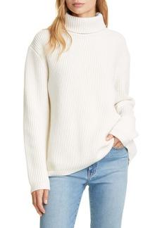 Jenni Kayne Ribbed Cashmere Turtleneck Sweater