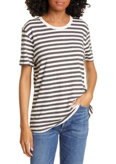 Jenni Kayne Stripe Cotton Blend Boy Tee