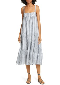 Jenni Kayne Summer Stripe Cotton Blend Sundress