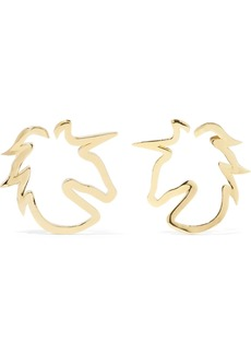 Jennifer Fisher Baby Unicorn Gold-plated Hoop Earrings