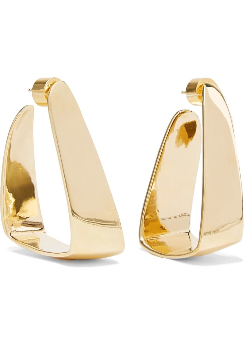 chanel cc goldplated vintage i tradesy plated earrings gold