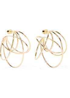 Jennifer Fisher Haywire Gold-plated Hoop Earrings