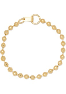 Jennifer Fisher Ball Chain gold-plated anklet