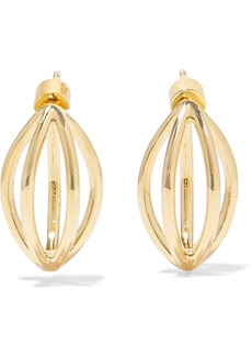 Jennifer Fisher Small Cage gold-plated earrings