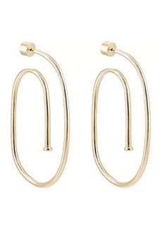 Jennifer Fisher Women's Large Pipe Hoop Earrings