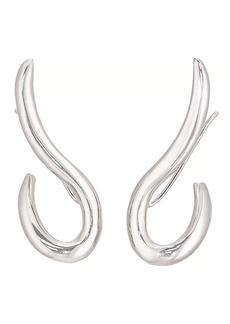 Jennifer Fisher Women's XL Curved Root Earrings - Silver