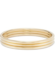 Jennifer Fisher Set Of Three Gold-plated Bangles