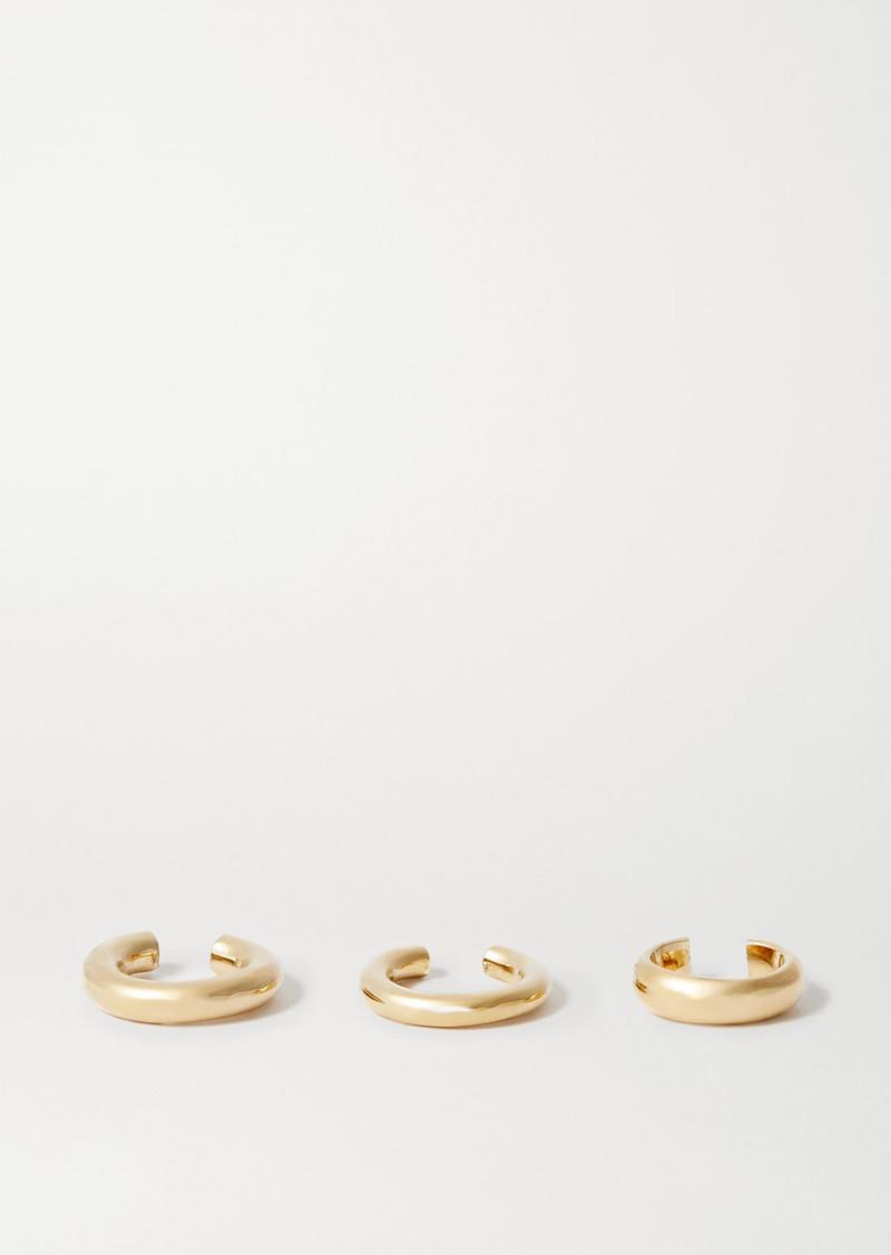 Jennifer Fisher Set Of Three Gold-plated Ear Cuffs