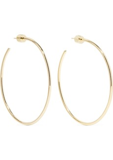 Jennifer Fisher Skinny Gold-plated Hoop Earrings