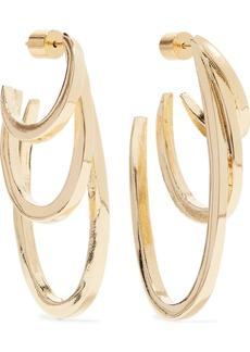 Jennifer Fisher Square Adwoa Gold-plated Hoop Earrings