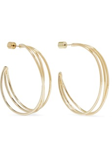 Jennifer Fisher Triple Thread Gold-plated Hoop Earrings