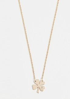 Jennifer Zeuner Jewelry Clover Necklace with Diamond