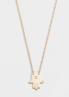 Jennifer Zeuner Jewelry Mini Hamsa Diamond Necklace