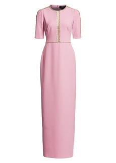 Jenny Packham Cari Embellished Column Gown