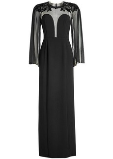 Jenny Packham Crepe Gown with Lace