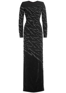Jenny Packham Crystal Embellished Evening Gown