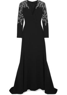 Jenny Packham Darina Crystal-embellished Crepe Gown