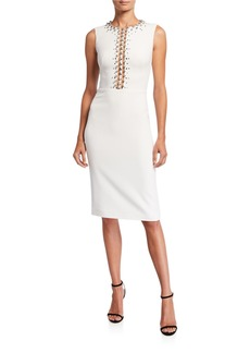 Jenny Packham Detailed Top Cocktail Dress