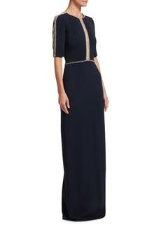 Jenny Packham Embellished Column Gown