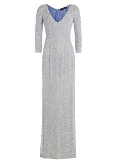 Jenny Packham Embellished Silk Floor Length Gown