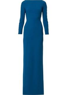 Jenny Packham embellished sleeve gown