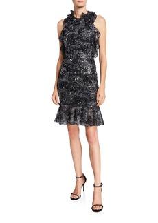 Jenny Packham Halter Open-Back Cocktail Dress