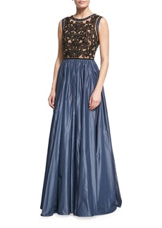 Jenny Packham Beaded Evening Gown with Taffeta Skirt