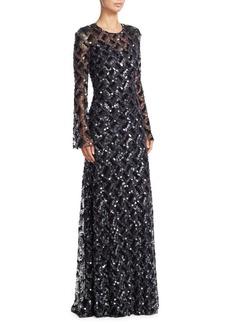 Jenny Packham Beaded Sequin Gown
