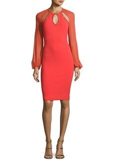 Jenny Packham Beaded-Trim Cutout Cocktail Dress