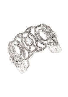 Jenny Packham Crystal Openwork Cuff Bracelet