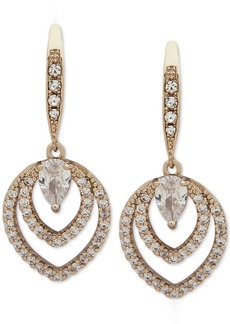 Jenny Packham Crystal Openwork Drop Earrings